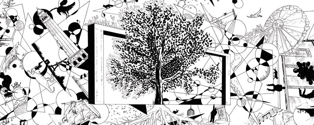 """Présentation de """"Racines Graphiques"""", dessin réalisé par Christophe Moulinier"""
