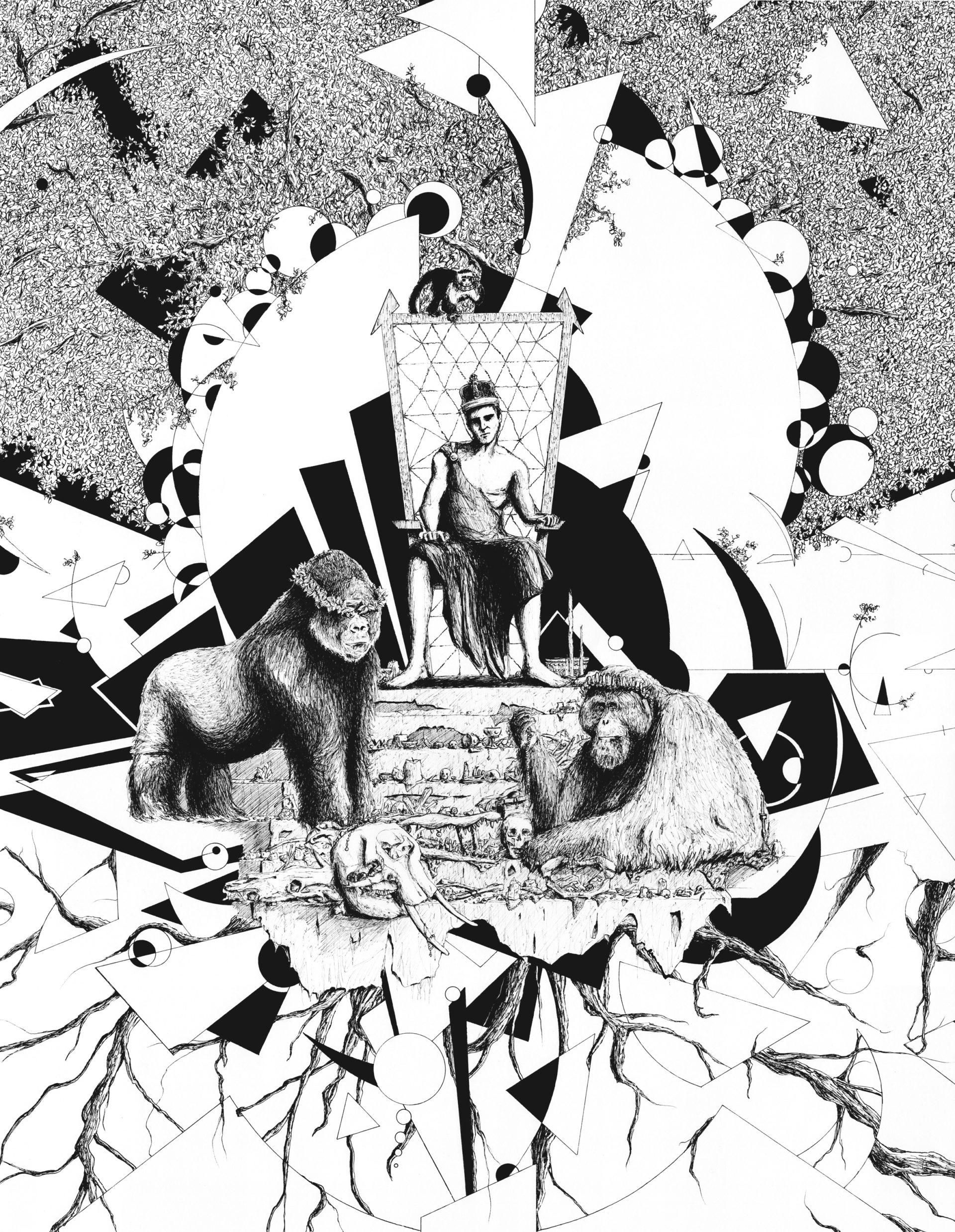 """""""L'Empereur"""", dessin réalisé par Christophe Moulinier, artiste dessinateur"""