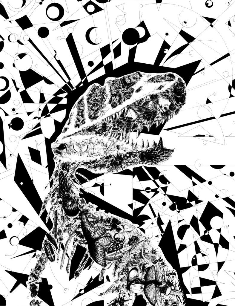 """""""Titans"""", dessin réalisé par Christophe Moulinier, artiste dessinateur"""