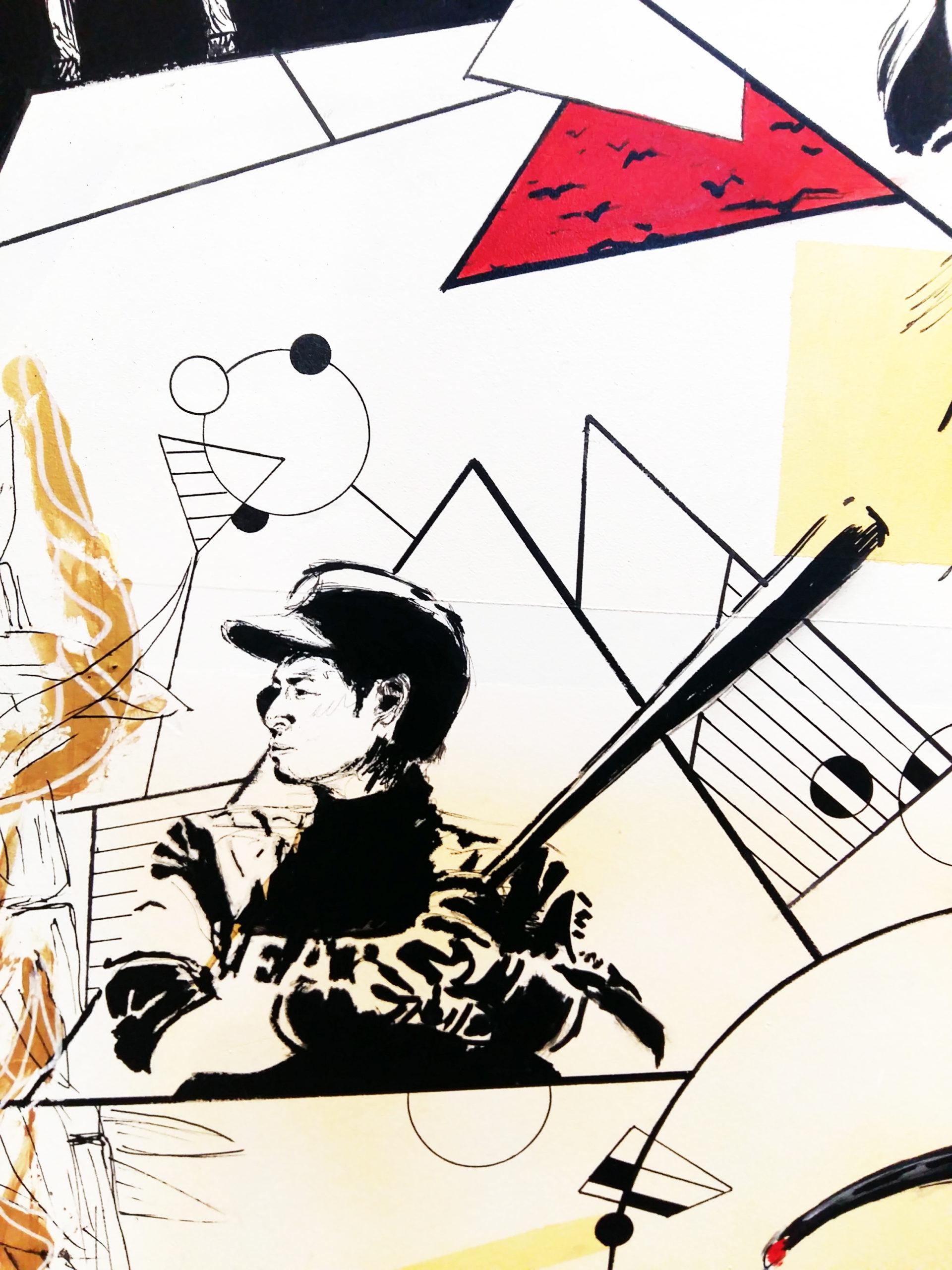 "Gros plan de la Borne d'Arcade ""Empire du Soleil Levant"": Ichirō Suzuki 鈴木 一朗"